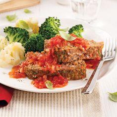 Pain de viande allégé à l'italienne Clean Recipes, Easy Recipes, Meatloaf, Easy Meals, Food And Drink, Dinner, Calories, Healthy, Mini Pains