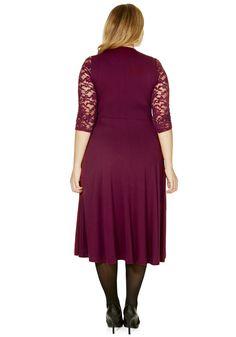 Clothing at Tesco | F&F True Lace Sleeve Jersey Plus Size Maxi Dress > dresses > Plus Size > Women