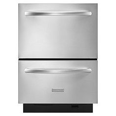 """KitchenAid 24"""" Double-Drawer Dishwasher - Stainless Steel  Sears Item# 02213373000 