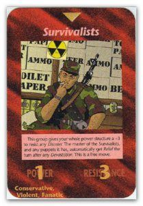 Illuminati Card game Survivalists/minutemen