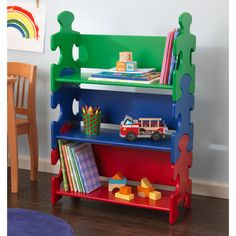 KidKraft Puzzle Book Shelf | Overstock.com Shopping - The Best Deals on Kids' Furniture