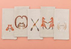 Embroidered Tea Towels from Coral & Tusk.