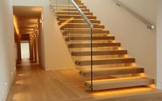 contemporary floating staircase