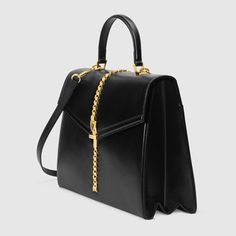 Shop the Black Leather Sylvie Mini Bag at GUCCI.COM. Enjoy Free Shipping and Complimentary Gift Wrapping. Gucci Sylvie, Guccio Gucci, Gucci Gifts, Gucci Shoulder Bag, Mini Bag, Leather Backpack, Fashion Backpack, Crossbody Bag, Black Leather