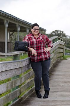 Plaid, @James Jeans, and @ShoeDazzle hailee booties. I'm ready for fall! #ootd #plussize #plussizefashion