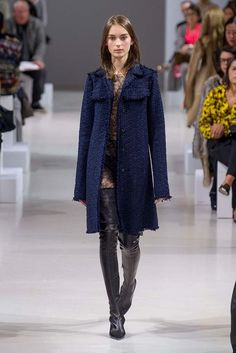 Nina Ricci at Paris Fashion Week Fall 2015 - Runway Photos Coat Dress, Fall 2015, Winter Collection, Fashion Forward, Fashion Show, Paris Fashion, Ready To Wear, Fur Coat, Winter Jackets