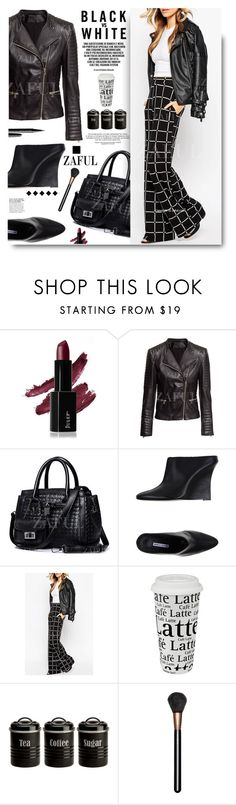 """""""Zaful.com: Black & White"""" by hamaly ❤ liked on Polyvore featuring Manolo Blahnik, Könitz, Typhoon, MAC Cosmetics, Marc Jacobs, women's clothing, women's fashion, women, female and woman"""