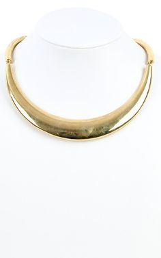 Metallic Choker Necklace GOLD