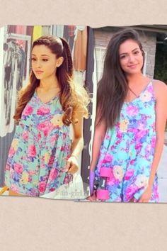 Wow @Bethany Shoda mota you and Ariana grande are wearing the same dress