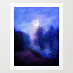 Feel the magical winter Art Print by Viviana Gonzalez - $19.95