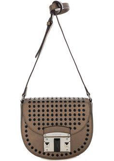 79b1cec4d23b Маленькая сумка из сафьяновой кожи с декором 1403478 bronzo закрывается  клапаном на замок, купить в интернет-магазине. Цена: 16490