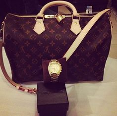 Louis vuitton bag and watch luxury