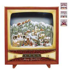 Televisión vintage con música y movimiento