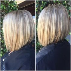 Thick blondes a-line bob
