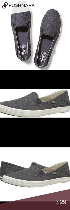 NWOT Gray Wool Keds- Slip Ons NWOT Gray Wool Keds- Slip Ons. Excellent condition. Keds Shoes
