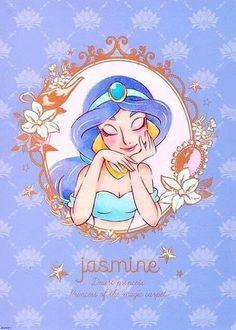 ディズニー ジャスミン, プリンセスジャスミン, アラジンとジャスミン, ディズニーファンアート, ディズニーピクサー, ウォルト・ディズニー,  ディズニーキャラクター,