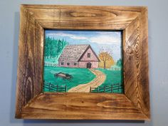 The Old Barn Mountian Top Farm Wagon Fence by FranklinsArtStudio