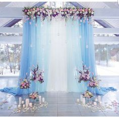 20 Light Blue and Blush Pink Wedding Colors for Spring Summer 2020 Pink Wedding Decorations, Pink Wedding Colors, Quince Decorations, Quinceanera Decorations, Diy Wedding Backdrop, Blush Pink Weddings, Wedding Themes, Wedding Ideas, Cinderella Quinceanera Themes