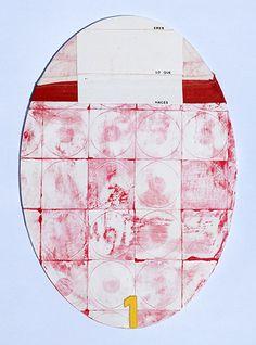 """© COLMADO MAZA Collage sobre madera (34 x 23,5 cm.).  Titulo: """"Eres lo que haces"""""""