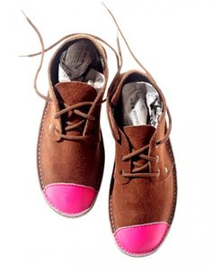 Neon Pink leather shoes