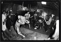 Black Flag in Mike Muir's (Suicidal Tendencies) garage in Venice Beach, California early 1980's