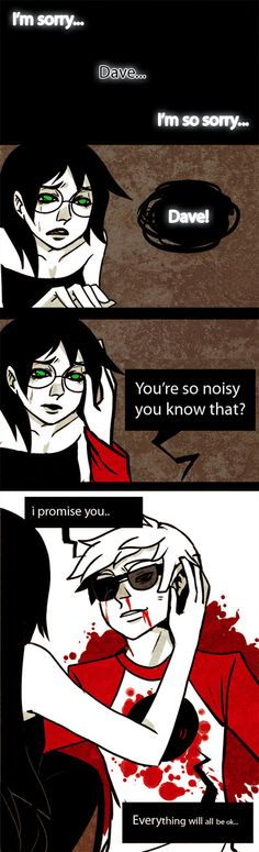 NO IT IS NOT OKAY. IT. IS. NOT. OKAY.     Homestuck: its okay by *Shilloshilloh on deviantART -- are these tears?/ oh god why ;;