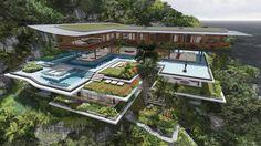 Daniel Martin Ferrero von Martin Ferrero Architecture, präsentiert die 3D Visualisierungen seines neusten Projektes mit dem Namen Xálima Island House.