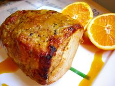 Lomo de cerdo asado con zumo de naranja, mostaza y miel Food N, Good Food, Food And Drink, Yummy Food, Tasty, Pork Recipes, Vegetarian Recipes, Cooking Recipes, Healthy Recipes