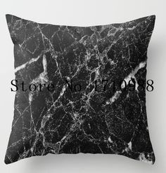 Hot sale Pillow cases  Black Marble 2 Inspired Beauty of Marble Luxury Printing Square Zippered Pillowcase free shipping