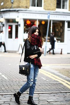 mad for plaid and boyfriend jeans