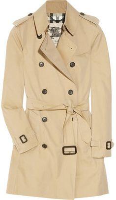 ShopStyle: BurberryMid-length cotton-gabardine trench coat