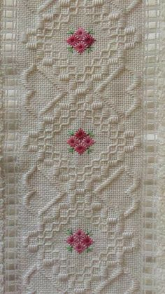 Swedish Embroidery, Hardanger Embroidery, Embroidery Stitches, Embroidery Patterns, Hand Embroidery, Cross Stitch Borders, Cross Stitch Patterns, Cross Stitch Material, Heirloom Sewing
