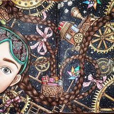 #dariasongcoloringbook #dariasong #nightvoyage #coloringbookforadults #coloringpancil #colorigbook #adultscoloringbook #art #fabercastel #pancil #johaanabasford