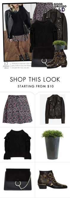"""""""2428. Get The Look"""" by chocolatepumma ❤ liked on Polyvore featuring H&M, Jakke, Burberry, Ethan Allen and Chloé"""