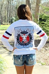 How adorable is this Happy Jersey Tee in White that Southern Fried Chics have in stock on their website! www.southernfriedchics.com #America #SoCute Southern Fried Chics Boutique | Womens Clothing, Footwear, & Accessories