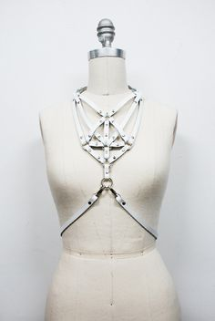 Image of Necklace Harness - White