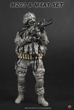 onesixthscalepictures: Soldier Story M203 & M4A1 Weapon Set : Latest product news for 1/6 scale figures (12 inch collectibles) from Sideshow...