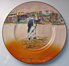 Royal Doulton Series Ware Rack Plate 'Cap'n Cuttle' D6327 Dickens Ware