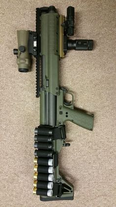 Been trying to get the shell rack and can't find it. :( KSG shotgun, home defense, guns, tactical, light weight ammo holder Military Weapons, Weapons Guns, Guns And Ammo, Survival Weapons, Home Defense, Arsenal, Combat Shotgun, Tactical Shotgun, Custom Guns