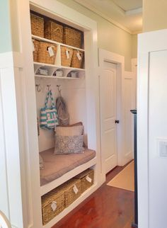 No Empty Chairs: Home Improvement #3/ Closet to mudroom bench