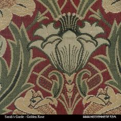 Sarah S Garden Golden Rose Fabric Archive Edition Fabrics Leathers And Mission Furniture
