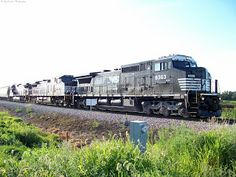 NS Grain Train at S. Amana. 8/13/13.