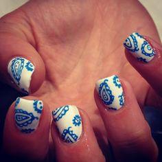 Paisley nail art.