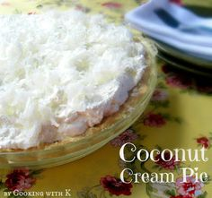 Southern Kitchen Happenings: Homemade Coconut Cream Pie + an easy method for cooking the filling! Shortbread Pie Crust, Homemade Shortbread, Homemade Pie, Shortbread Recipes, Pie Dessert, Dessert Recipes, Just Desserts, Delicious Desserts, Coconut Desserts