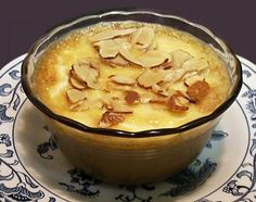 Butter Almond Creme Brulee..huh when I typed this why did I hear Julia Child saying it..lol