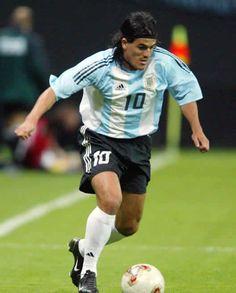 Ariel Ortega de River Plate y la Seleccion de Argentina