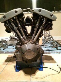 1977 Harley Davidson Shovelhead Motor Engine #harleydavidsonchoppersawesome #harleydavidsonshovelhead