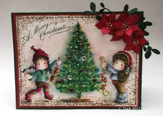 Tilda with Two Gifts, Jingle Jangle Tilda & Christmas Tree / a touch of magnolia
