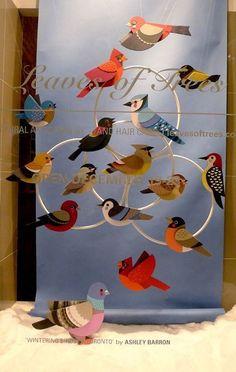 >>>Cheap Sale OFF! >>>Visit>> wintering birds of toronto ontario window display Más Diy And Crafts, Crafts For Kids, Arts And Crafts, Paper Crafts, Visual Display, Display Design, Store Design, Design Design, Paper Birds