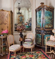 A photo of the inside of her apartment, filled with antiques she has collected over the years. The chest came from a trip to china during the 80's.